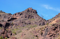 Volcanic Rock Basaltic Formation in Gran Canaria Stock Photos