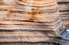 Volcanic Rock Basaltic Formation in Gran Canaria Stock Images