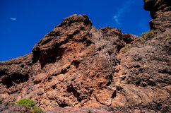 Volcanic Rock Basaltic Formation in Gran Canaria Royalty Free Stock Photos