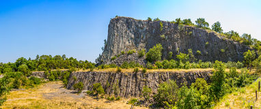 Volcanic rock basaltic formation Royalty Free Stock Photos