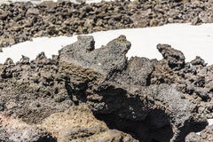 Volcanic rock closeup on Etna, Sicily, Italy Stock Image