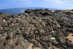 Volcanic rock coast, Graciosa Island, Canary Islands, Spain Royalty Free Stock Image