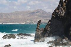 Volcanic Rock Coastline, Fuerteventura Stock Photo
