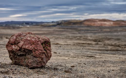 Volcanic Rock in Empty Lava Field - Iceland Stock Image