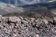 Volcanic rock on Etna, Italy. Royalty Free Stock Image