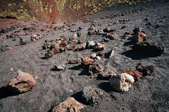 Volcanic rock on Etna, Italy Stock Photography