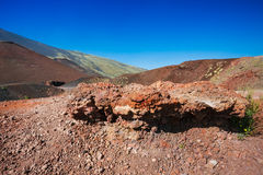 Volcanic rock on Etna, Italy Stock Image