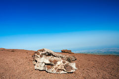 Volcanic rock on Etna, Italy Royalty Free Stock Image