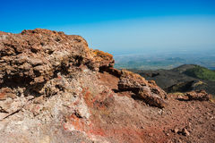 Volcanic rock on Etna, Italy Royalty Free Stock Images
