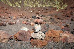 Volcanic rock on Etna, Italy Royalty Free Stock Photo
