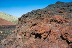 Volcanic rock on Etna, Italy Stock Photos