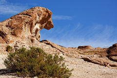 Volcanic rock formation in Bolivia Stock Images