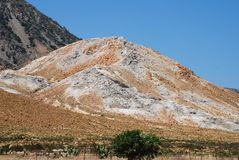 Volcanic rock formation, Nisyros Stock Images