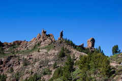 Volcanic rock formation at Roque Nublo, Gran Canaria Stock Photography