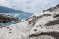 Volcanic rock formation. At Shihtiping, Hualien bay Pacific Ocean in Taiwan stock photo
