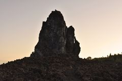 Volcanic rock in morning light Tenerife Canary Islands royalty free stock photography