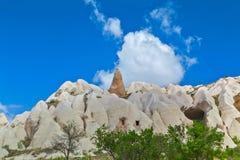 Volcanic rock formations in Cappadocia, Anatolia, Turkey. Goreme Royalty Free Stock Photography