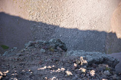 Volcanic rock inside the crater of Vesiuvius Stock Images