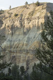 Volcanic rock layer in canyon of Yellowstone River, Wyoming. Stock Photos