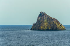 Volcanic rock in the middle of the Tyrrhenian Sea Royalty Free Stock Photos