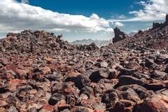 Volcanic Rock, Mountain Desert In Mountains Of North Caucasus. Elbrus Region, Russia Stock Photos