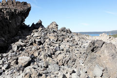 Volcanic rock. And obsidian flow in Deschutes National Forest, Oregon Royalty Free Stock Image
