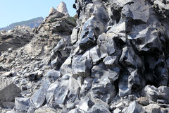 Volcanic rock. And obsidian flow in Deschutes National Forest, Oregon Royalty Free Stock Photo