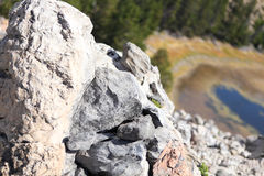 Volcanic rock. And obsidian flow in Deschutes National Forest, Oregon Stock Images