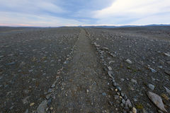Volcanic Rock Path to the horizon Royalty Free Stock Images