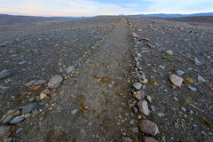 Volcanic Rock Path to the horizon Royalty Free Stock Photography