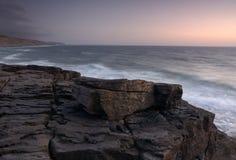 Volcanic rock. Photo captured near the beach magoito, sintra Royalty Free Stock Photography