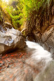Volcanic Rock River Bed Royalty Free Stock Photo