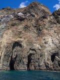 Volcanic rock and sea. Pantelleria, Sicily, Italy royalty free stock photos