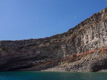 Volcanic rock and sea. Pantelleria, Sicily, Italy stock photography
