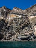 Volcanic rock and sea. Pantelleria, Sicily, Italy royalty free stock image
