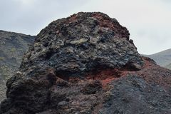 Volcanic rock of timanfaya stock image