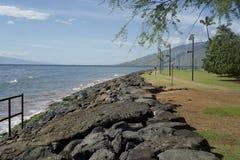Sea Wall Maui Stock Photos