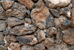 Volcanic rock wall Royalty Free Stock Photos