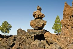 Volcanic rocks Stock Photos