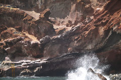Volcanic rocks and beach. La Palma. Spain Royalty Free Stock Photo