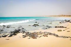 Volcanic rocks in Cape Verde Stock Photo