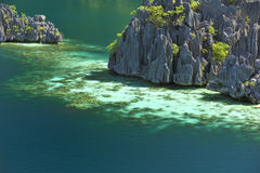Volcanic rocks in coron island Stock Photo