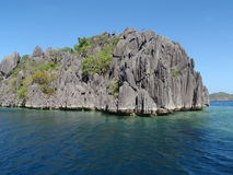 Volcanic rocks in Coron Island Royalty Free Stock Photo