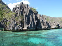 Volcanic rocks in Coron Island Royalty Free Stock Photos