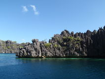 Volcanic rocks in Coron Island Royalty Free Stock Photography