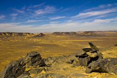 Volcanic Rocks Desert Landscape Royalty Free Stock Images