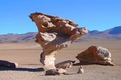 Volcanic rocks formation, Arbol de Piedra Stock Image