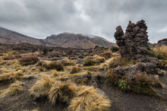 Volcanic rocks formation at Tongariro national park Royalty Free Stock Photo