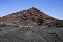 Volcanic rocks on Lanzarote, Canary Islands. Lanzarote landscape Royalty Free Stock Images