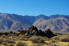 Volcanic rocks and mountains Royalty Free Stock Photography